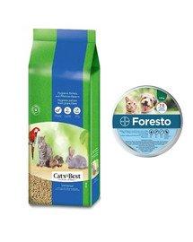 JRS Cat'S best universal 40 l + BAYER FORESTO Obroża dla kota i psa przeciw kleszczom i pchłom poniżej 8 kg