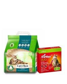 JRS Cat's Best Green Power 8l + VET-AGRO Fiprex Duo Preparat na kleszcze i pchły dla kotów i fretek