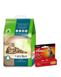 JRS Cat's Best Sensitive 20l żwirek drewniany dla kota + VET-AGRO FIPREX SPOT ON kot 1 szt.