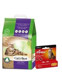JRS Cat's Best Smart Pellets 5l żwirek zbrylający dla kota + VET-AGRO FIPREX SPOT ON kot 1 szt.
