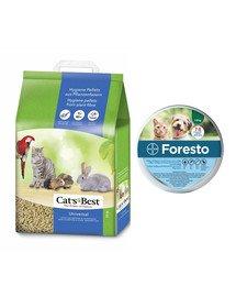 JRS Cat'S best universal 7l (4 kg) + BAYER FORESTO Obroża dla kota i psa przeciw kleszczom i pchłom poniżej 8 kg