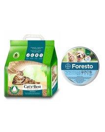JRS Cat's Best Green Power 8l + BAYER FORESTO Obroża dla kota i psa przeciw kleszczom i pchłom poniżej 8 kg