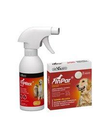 VET-AGRO Fiprex spray 250 ml + InPar Tabletki na odrobaczanie psa pasożyty wewnętrzne 2 tab.