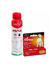 VET-AGRO FIPREX SPOT ON L 20-40 kg 1 szt. + VACO Spray MAX na komary, kleszcze, meszki z PANTHENOLEM 100 ml