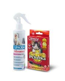 PCHEŁKA Obroża p/pchelna dla kota 30cm + Spray insektobójczy na legowiska 200 g