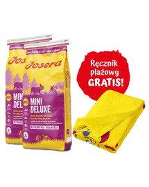 JOSERA Mini Deluxe 2x15 kg dla psów dorosłych + ręcznik plażowy GRATIS