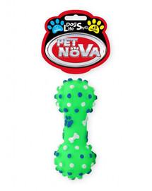 DOG LIFE STYLE Hantel z wypustkami 10,5cm zielony