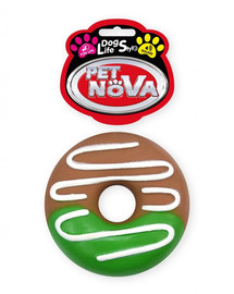DOG LIFE STYLE Pączek Donut z polewą 10cm zabawka dla psa
