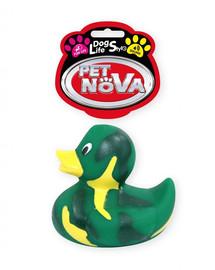 DOG LIFE STYLE Kaczuszka zabawka dla psa 7cm zielona
