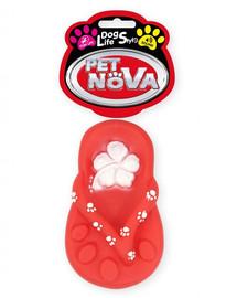 """DOG LIFE STYLE Klapek """"Japonka"""" zabawka dla psa 15cm czerwony"""