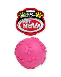 DOG LIFE STYLE Piłka 6cm z dzwiękiem, różowa, aromat mięta