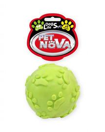 DOG LIFE STYLE Piłka 6cm z dzwiękiem, żółta, aromat mięta