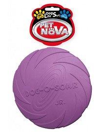 DOG LIFE STYLE Frisbee dysk gumowy 15cm fioletowy