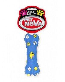 DOG LIFE STYLE Kość zabawka dla psa 15cm niebieska