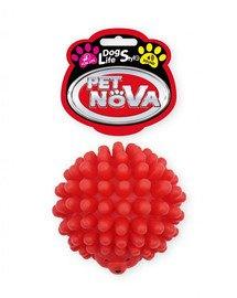 DOG LIFE STYLE Jeżyk zabawka dla psa 6,5cm czerwony