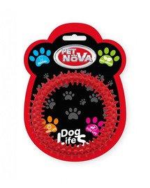 DOG LIFE STYLE Ringo dental 12,5cm, czerwone, aromat mięta