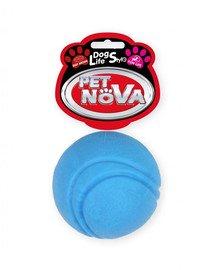 DOG LIFE STYLE Piłka tenisowa 5cm, niebieska, aromat wołowina