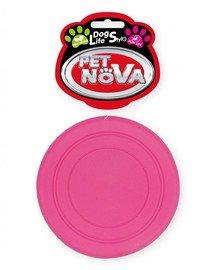 DOG LIFE STYLE Frisbee 18cm różowe, aromat mięta