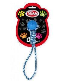 DOG LIFE STYLE Piła na sznurze 40cm, niebieska, aromat mięta