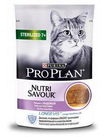 PRO PLAN Sterilised 7+ 24 x 85 g indyk dla kotów starszych