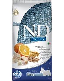 N&D Ocean Adult Mini codfish, spelt, oats, orange 800 g