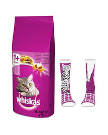 WHISKAS Adult 14kg - sucha karma dla kotów z jagnięciną + skarpety GRATIS