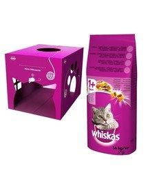 WHISKAS Adult 14kg - sucha karma dla kotów z wołowiną i warzywami + domek dla kota GRATIS