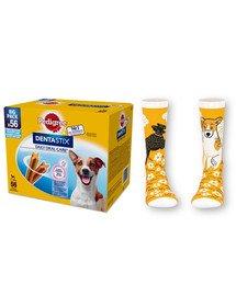 PEDIGREE DentaStix (małe rasy) przysmak dentystyczny dla psów 56 szt. - 8x110g + skarpety GRATIS
