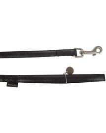 Smycz mac leather 20 mm / 1.2 m czarny