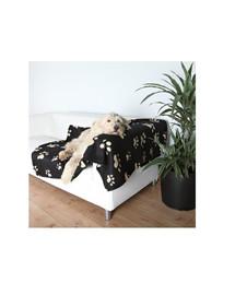 Koc barney 150 x 100 cm czarny z łapami