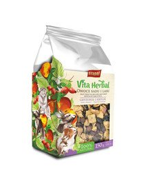 VITAPOL Vita Herbal mieszanka uzupełniająca dla gryzoni i królika Owoce z sadu i lasu150 g