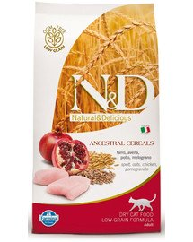 N&D low grain chicken & pomegrante adult cat 1.5 kg