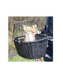 Wiklinowy koszyk do roweru 50 x 41 x 35 cm czarny