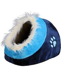 Legowisko-Jaskinia dla kota minou. 35 x 26 x 41 Cm. niebieskie