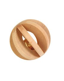 Drewniana piłka z dzwonkiem
