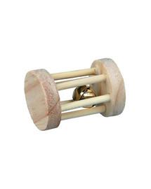 Zabawka drewniana rolka dla gryzoni 3,5 cm x 5 cm