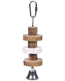 Zabawka drewniana z dzwonkiem 16 cm