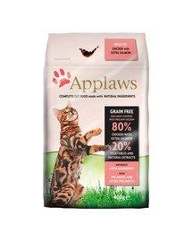 Sucha karma dla kotów kurczak i łosoś 0.4 kg