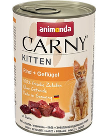 ANIMONDA Carny Puszka Kitten Wołowina i Drób 400 g