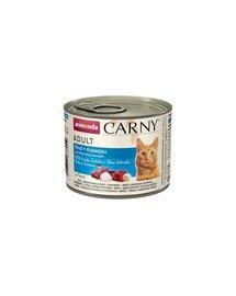 Carny Puszka Kot Wołowina/Dorsz z Korzeniem Pietruszki 200 g