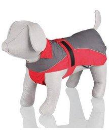 Lorient'. rain coat. s. 40 cm. red/grey