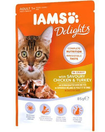 Cat Adult All Breeds Chicken & Turkey In Gravy Pouch 85 g