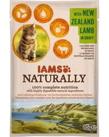 Naturally Adult Cat with New Zealand Lamb in Gravy 85 g