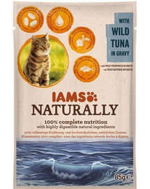 Naturally Adult Cat with Wild Tuna in Gravy 85 g