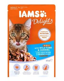 Cat Adult All Breeds Tuna & Herring In Jelly Pouch 85 g