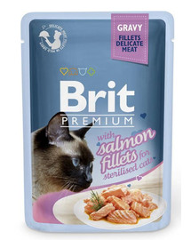 Premium Cat Fillets in Gravy for Sterilised łosoś 85g