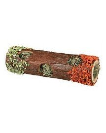 Tube tunnel with hay & hibiscus blossoms. 20 cm. 25 g