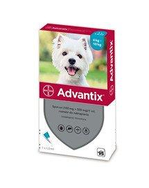 ADVANTIX Roztwór do nakrapiania dla psów od 4 do 10 kg (1 x 1 ml)