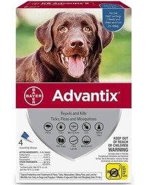 ADVANTIX Roztwór do nakrapiania dla psów od 25 do 40 kg (4 x 4 ml)