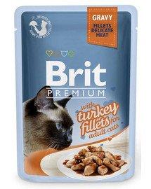 Premium Cat Fillets in Gravy indyk 85g